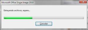 extracción de archivos por parte del instalador de Office
